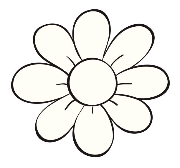 Flower Clipart Drawing.