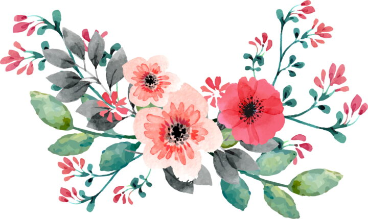 Wedding Invitation Flower Watercolor Painting Flores Para.