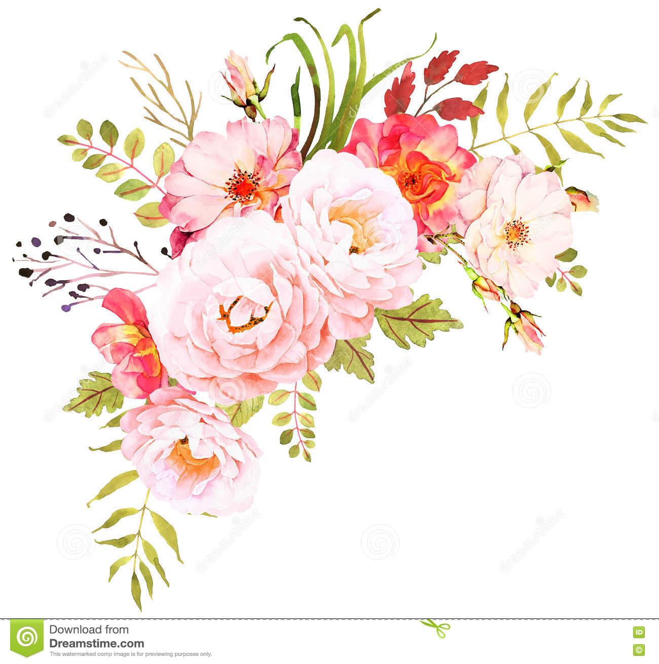 Ramalhete Da Flor Composição Decorativa Para O Convite Do Casamento.