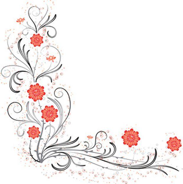 Como criar convites de casamentos com flores nas bordas.