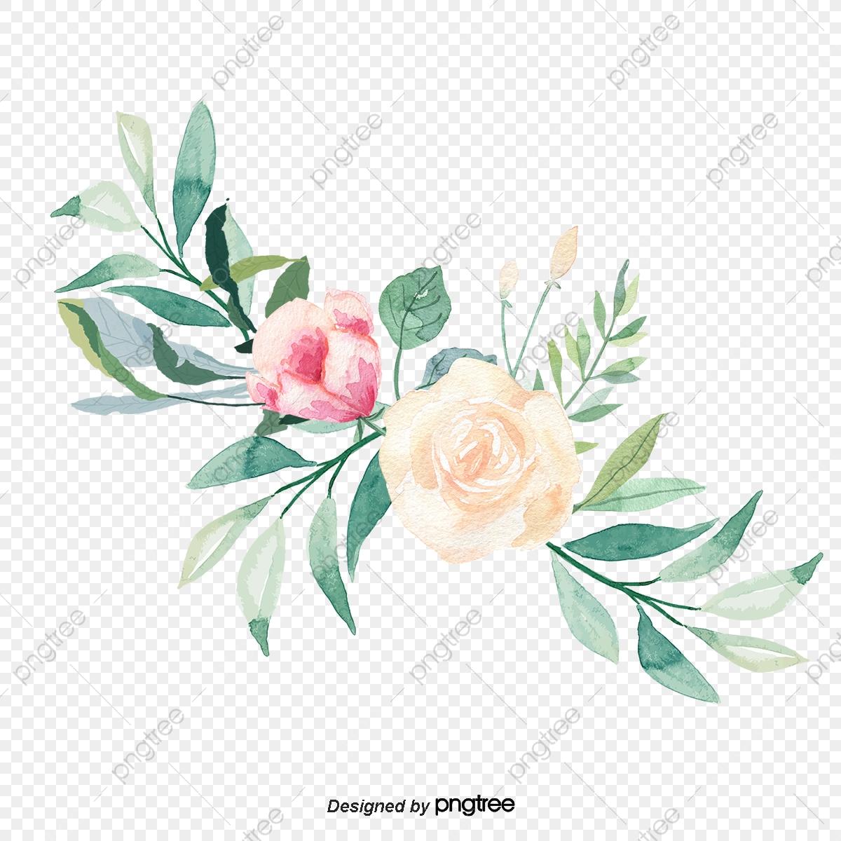 Convite De Casamento Bouquet De Flores Cor De Rosa Aquarela, Vector.