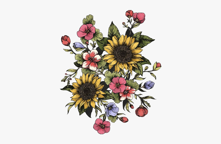 Tattoo Good Sunflower Trees Tumblr Vibes Design Clipart.