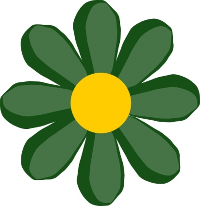 Green Flower clip art Clipart Graphic.