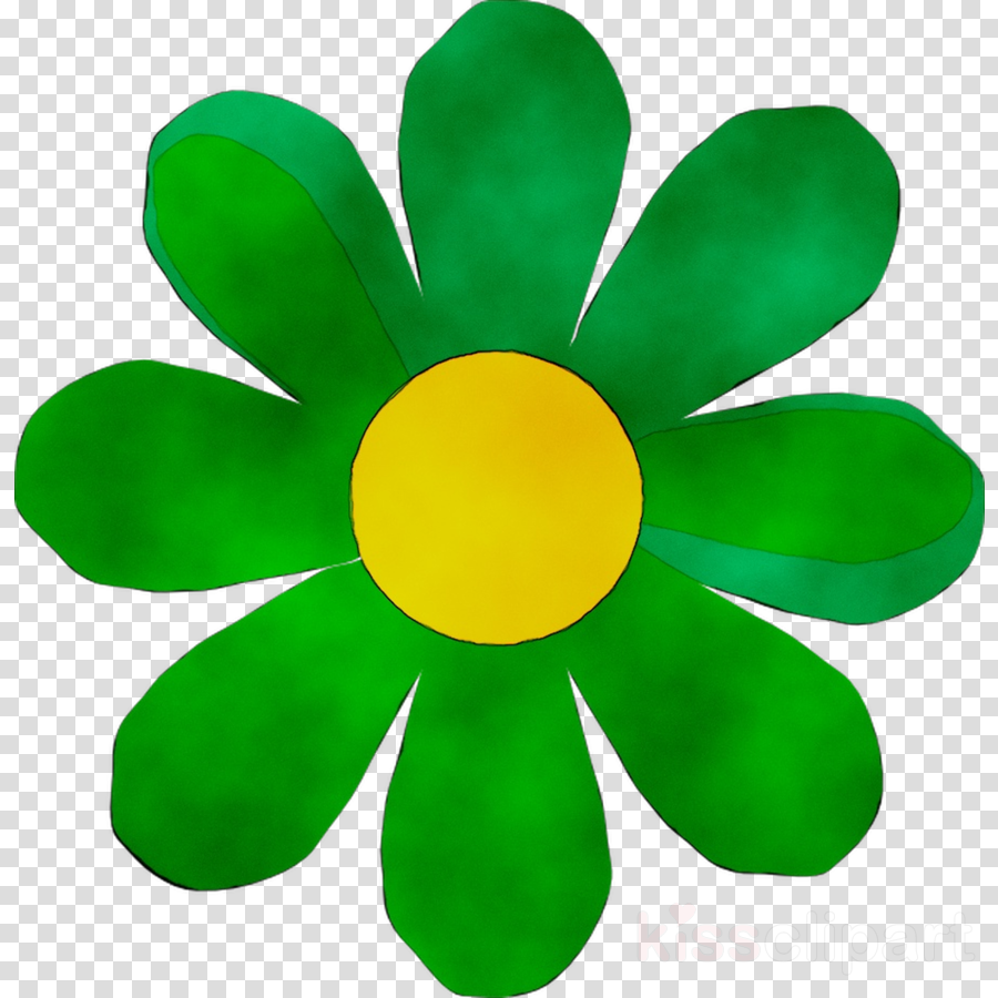 Green Flower clipart.
