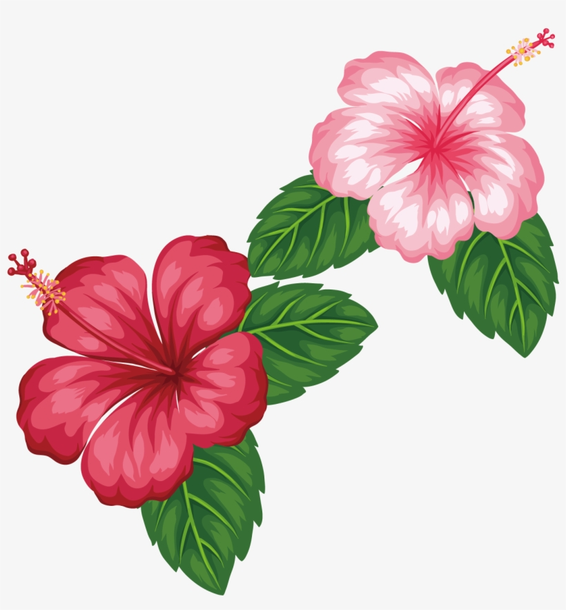 Royalty Free Flower Tropics Clip Art Red.