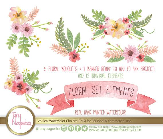 flores vintage clipart