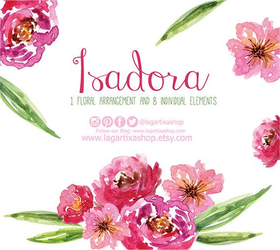 Watercolor clipart, Floral PNG, wedding bouquet, arrangement.