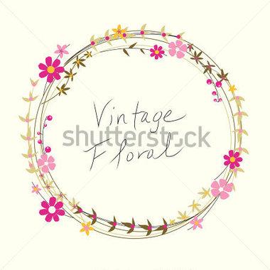 Guirnalda DE Flores Vintage vectores en stock.