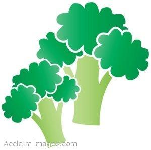 Clip Art Illustration of Some Broccoli.