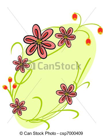 EPS Vectors of decorative background with florets and leaves.