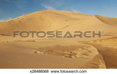 Pictures of Giant sand dunes on the island of Florianopolis.