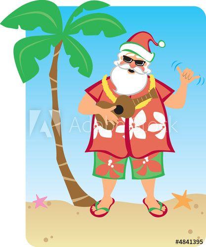 Santa\'s Hawaiian Christmas.