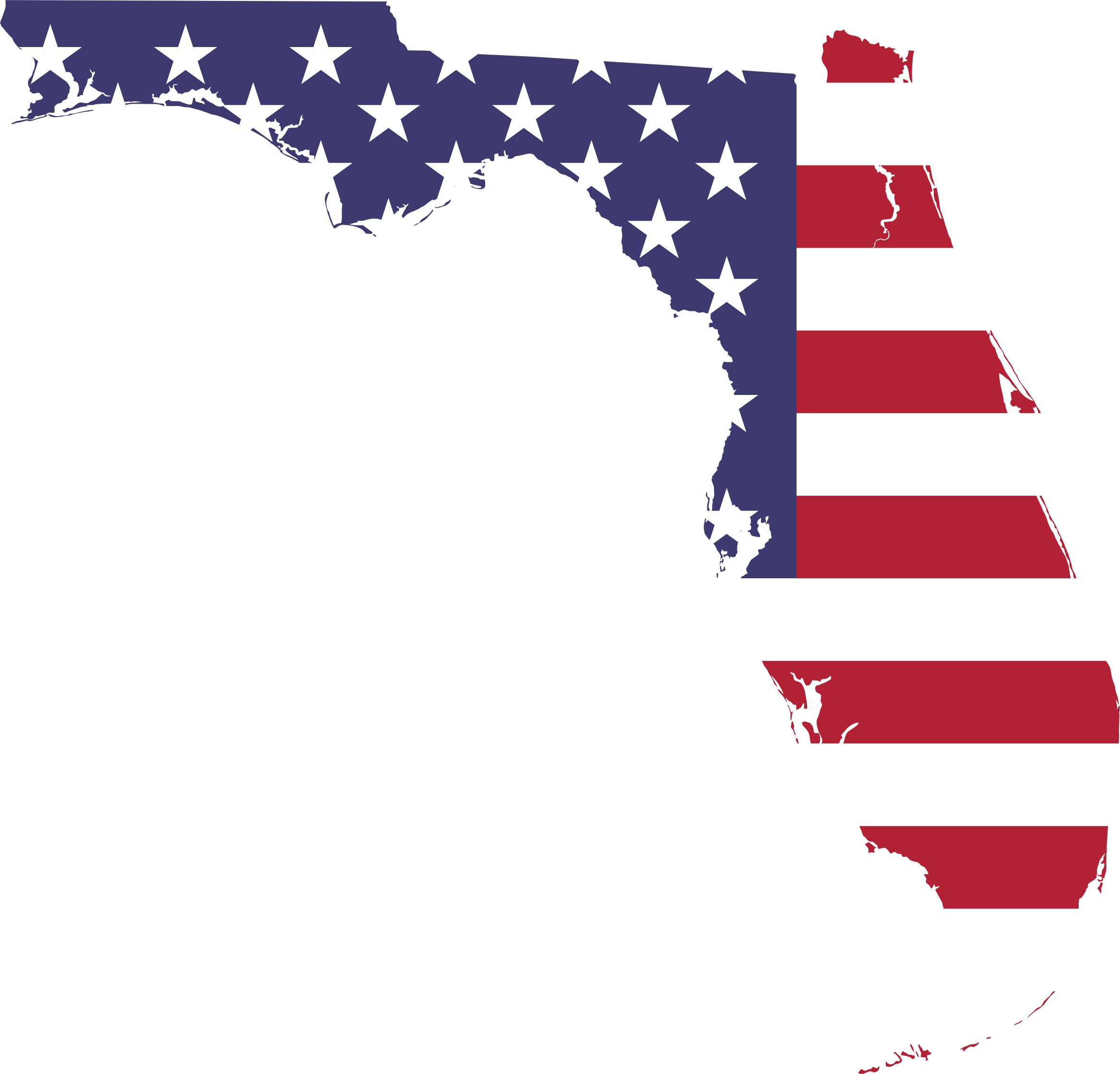 Usa clipart flag florida, Usa flag florida Transparent FREE.