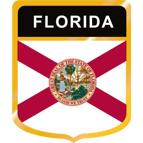 Florida Flag Crest Clip Art.