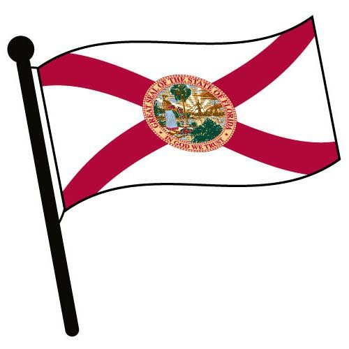 Florida waving flag clip art american pictures accessories.