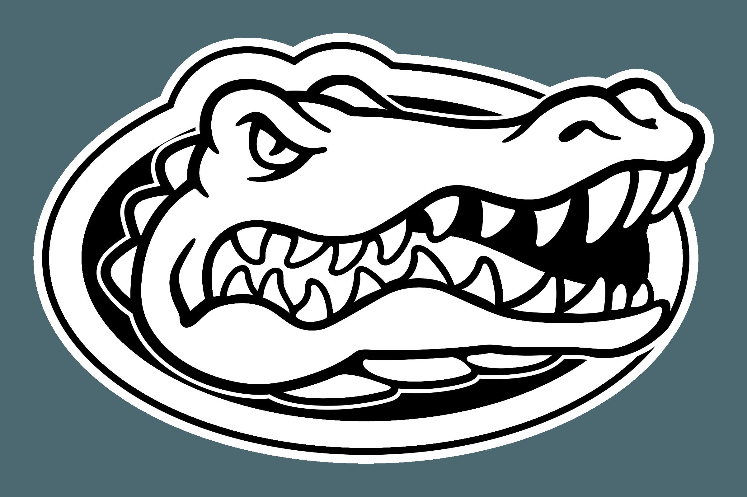 Black and White Gator Logo.