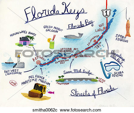Stock Photography of vacation, florida, florida keys, straits of.