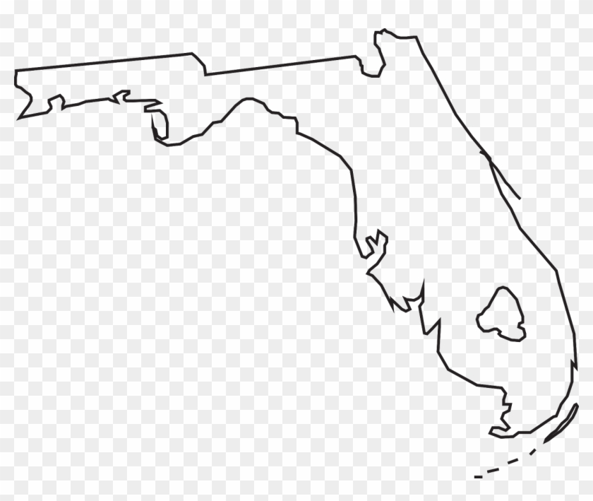 Florida State Map Geography Png Image.