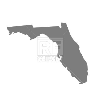 Florida map silhouette Vector Image #204.