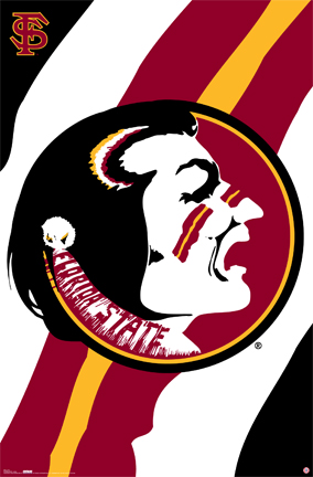 Florida State University FSU Football Logo Art Posters.