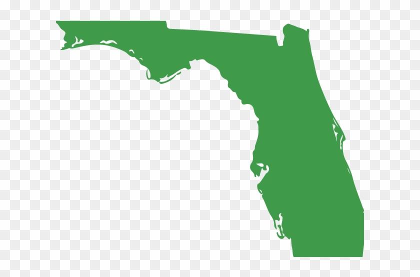Florida Vector Sunshine State Map.