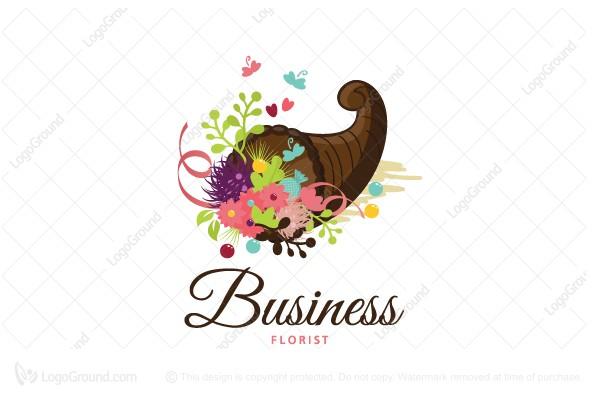 Exclusive Logo 180290, Cornucopia Florist Logo.