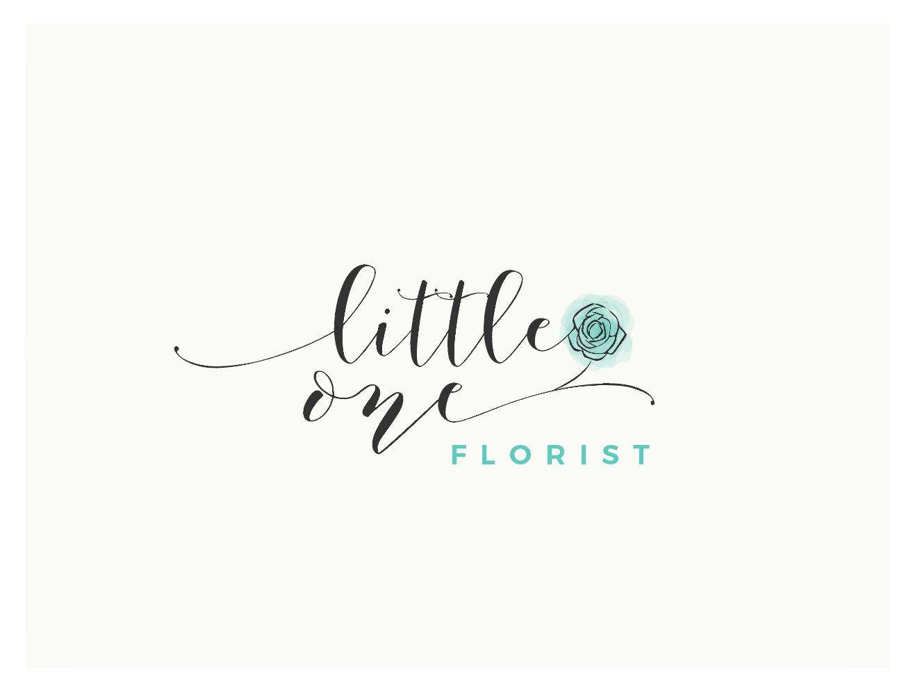 Elegant, Modern, Florist Logo Design for Little One Florist.