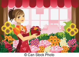 Florist Stock Illustrations. 6,274 Florist clip art images and.
