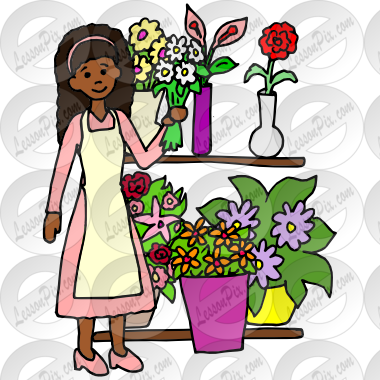 Florist Picture for Classroom / Therapy Use.