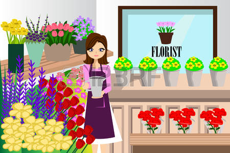 Floristry clipart clipground - Fleuriste dessin ...