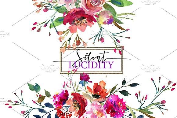 Bright Purple Flowers Clip Art Set ~ Illustrations on Creative Market.