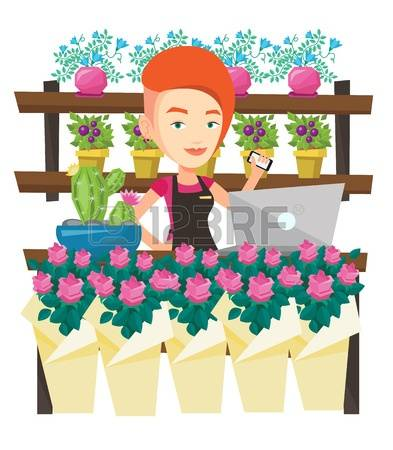 315 Florist At Work Stock Illustrations, Cliparts And Royalty Free.