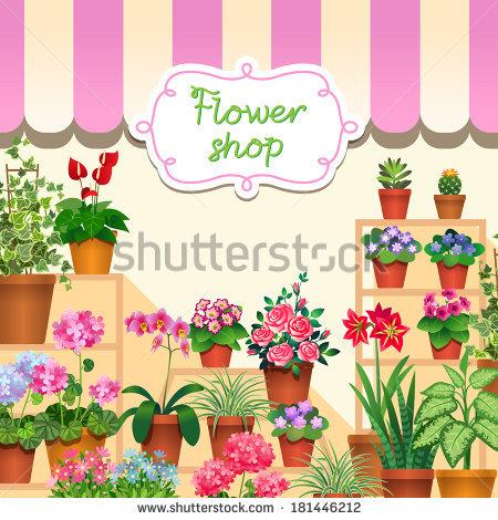 Flower Shop Stock Photos, Royalty.