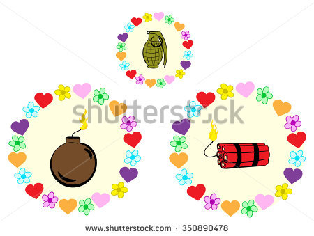Clipart Dynamite Bomb Grenade During Explosion Stock Vector.