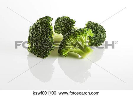 Stock Photography of Broccoli florets kswf001700.