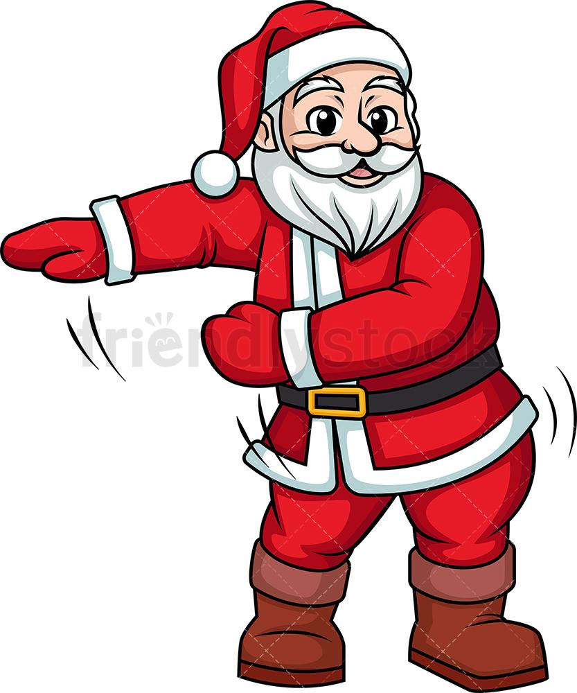 Santa Doing The Floss Dance.