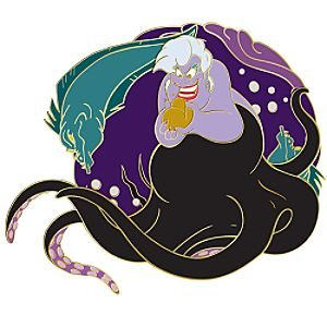 Ursula with Flotsam and Jetsam spinner pin from our Pins.