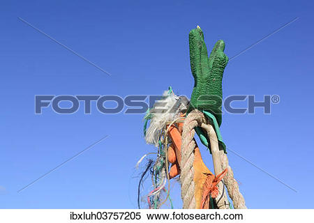"Stock Image of ""Flotsam and jetsam, Romo, Denmark, Europe."