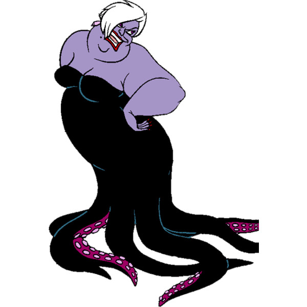 Ursula, Vanessa, Flotsam and Jetsam Clip Art ❤ liked on Polyvore.
