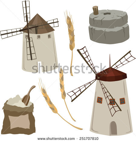 Flour Mill Stock Photos, Royalty.
