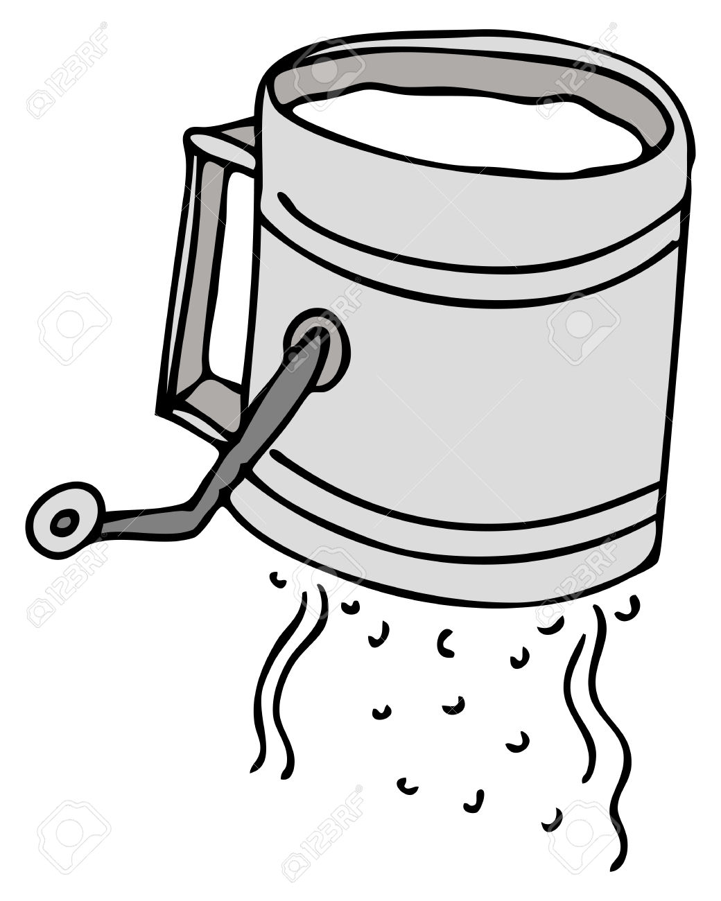 Flour sifter clipart - Clipground