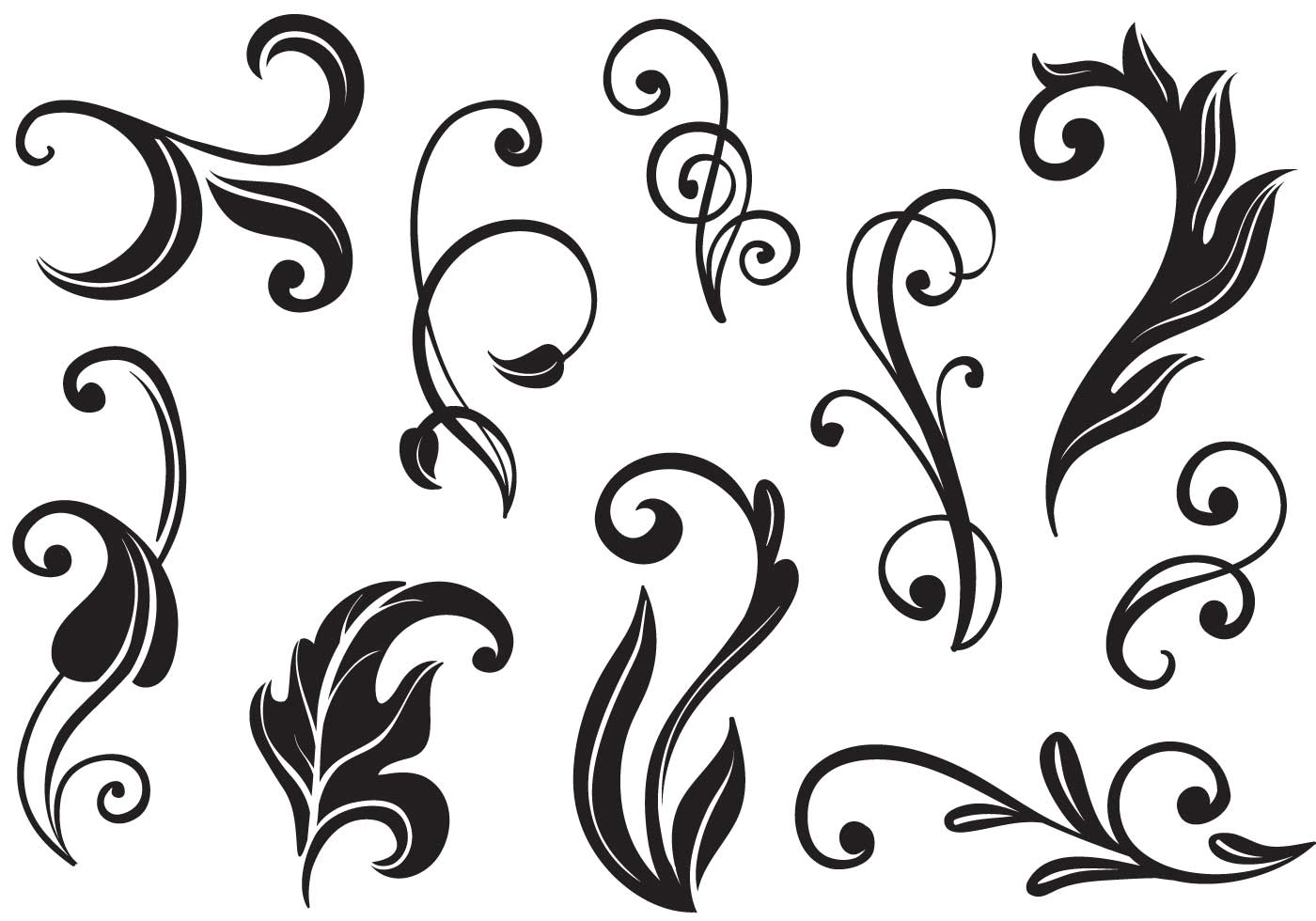 Free Flourishes II Vectors.