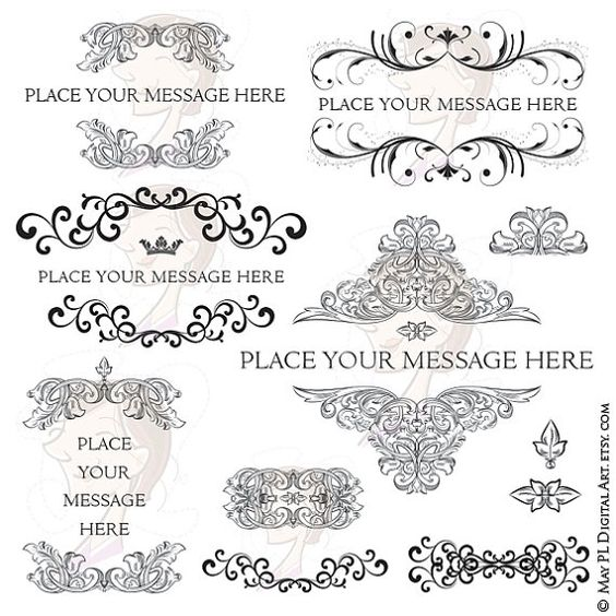 Flourish border, Filigree design and Vintage ornaments on Pinterest.