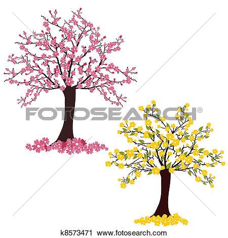 Clipart of Flourish trees k8573471.
