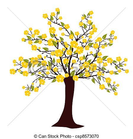 Vector Clipart of Flourish tree.