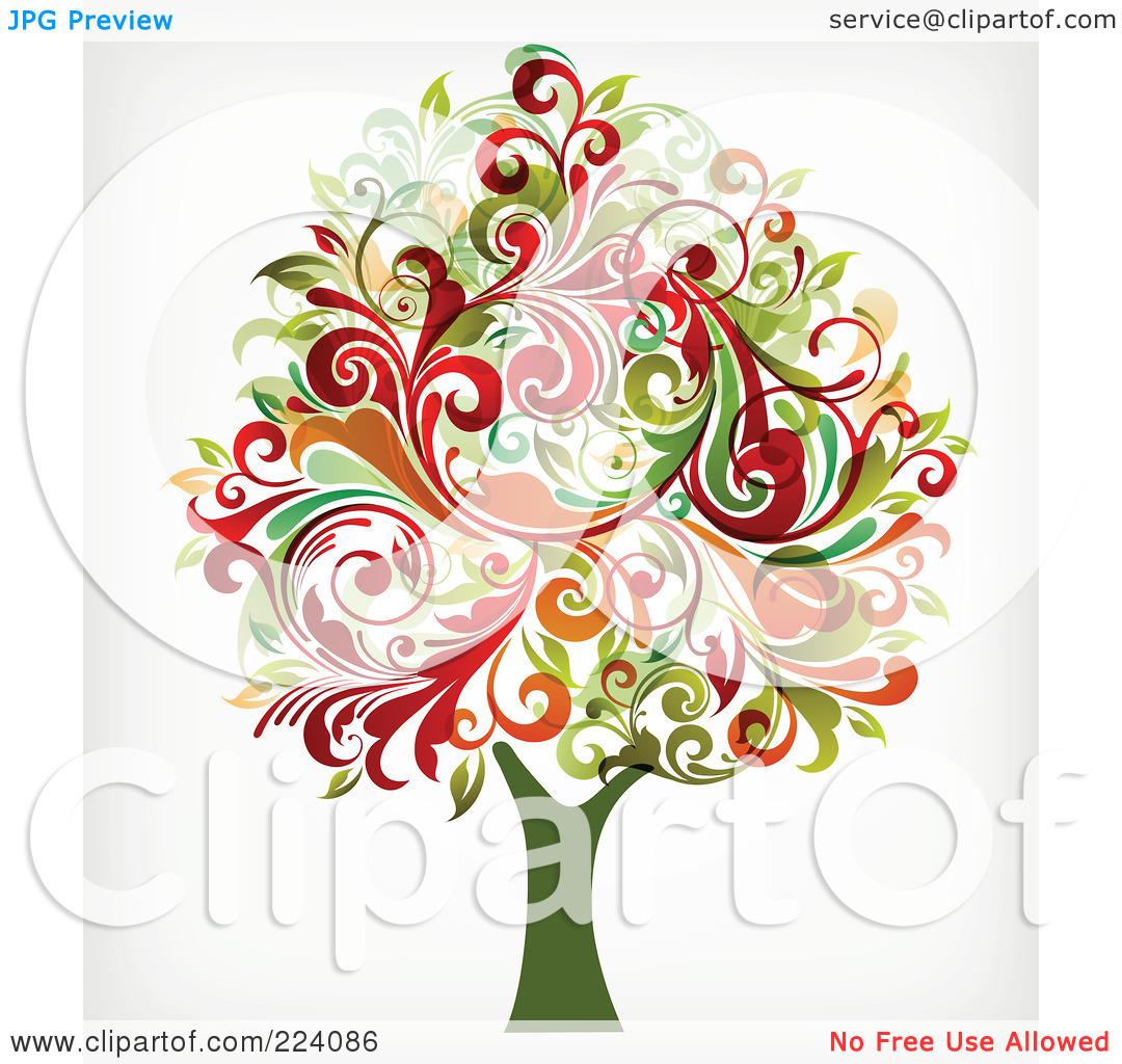 Tree flourish clipart.