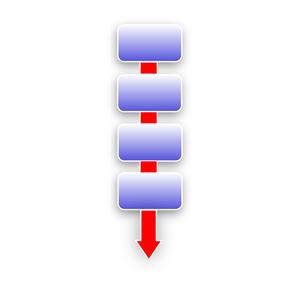 Free clip art process flow.