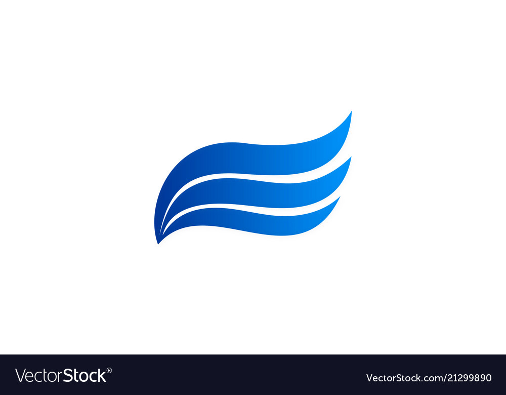 Wave air flow logo.