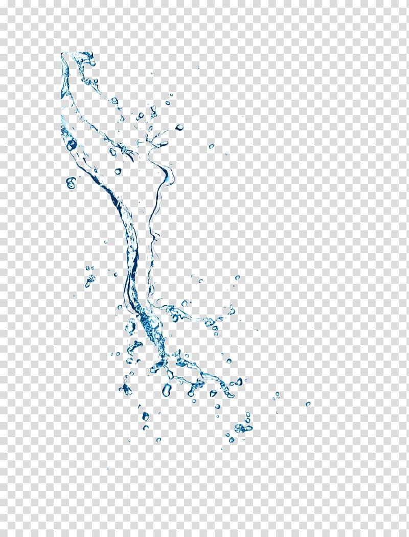 Splashing water flow, water splash transparent background PNG.