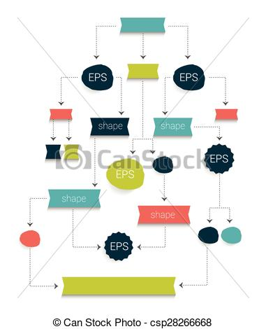 Clip Art Vector of Flow chart diagram, scheme. Simply editable.